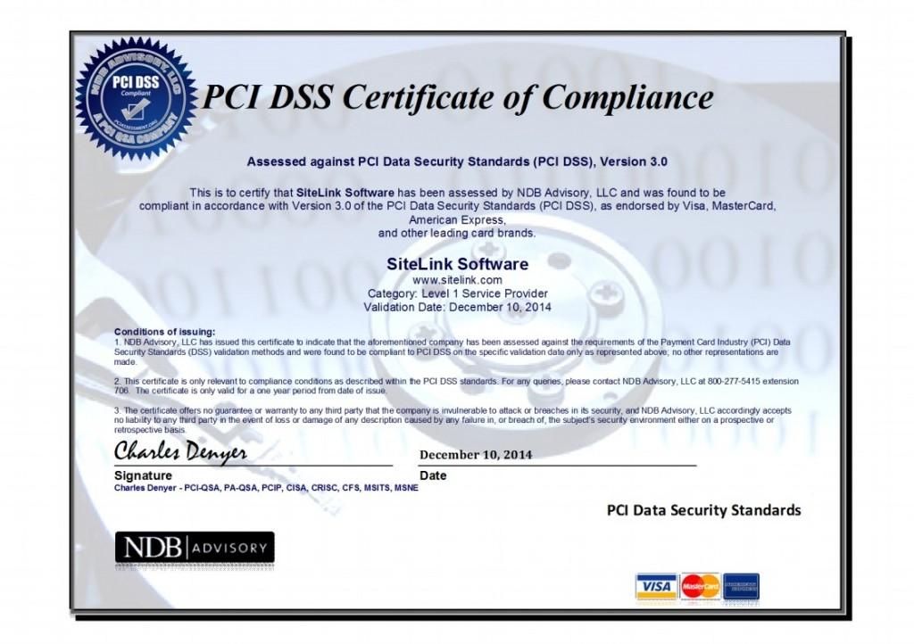 Pci Dss Level 1 Security Certification Sitelink News Sitelink